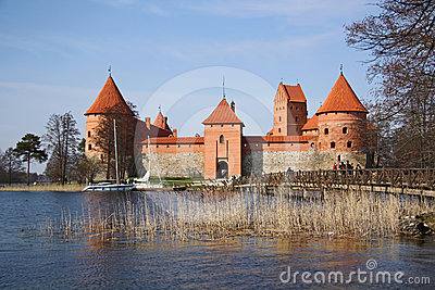 Trakai medieval castle (Lithuania) Editorial Stock Image