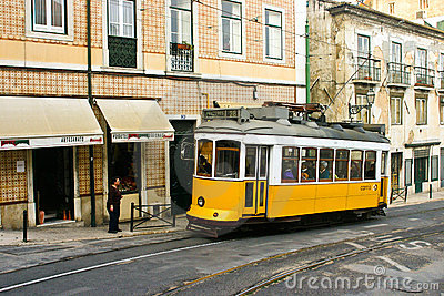 Tram 28, Lisbon Editorial Stock Image