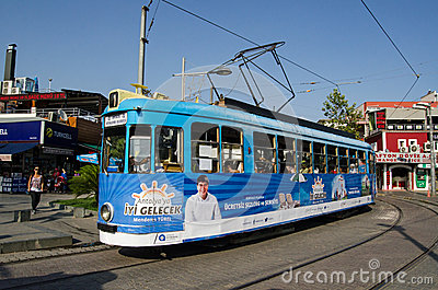 Tram in Antalya, Turkey Editorial Stock Image