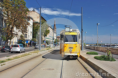 Tram in Budapest Hungary