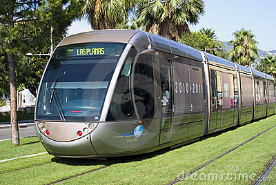 Tram in city of Nice Editorial Image