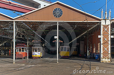 Tram depot Editorial Photography