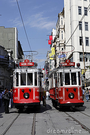 Tram in Istanbul,Turkey Editorial Stock Image