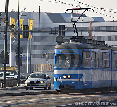 Tram in Krakow - Poland Editorial Image