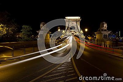 Tram lights in Budapest