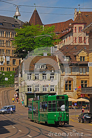 Tram No 16 in Basel Editorial Stock Image