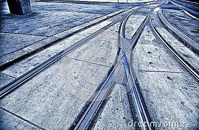 Tram rails Vienna