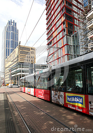 Tram in Rotterdam Editorial Image