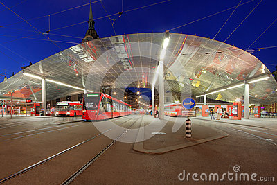 Tram station, Bern, Switzerland