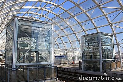 Modern tram station