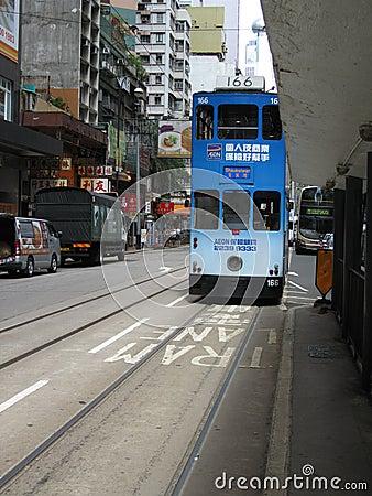 Free Tram Stop In Hong Kong Stock Image - 76612201