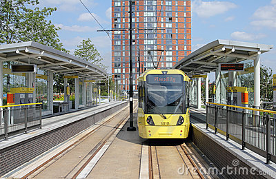 Tram at Terminus Editorial Image