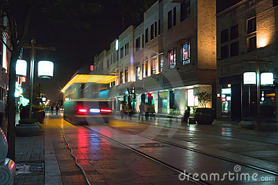 Tram travel in the Qianmen Street