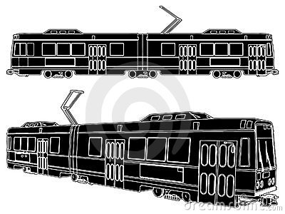 Tram Trolley Vector 03