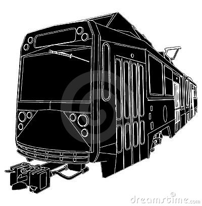 Tram Trolley Vector 04