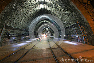 Tram in Tunnel