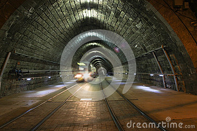 Tram in Tunnel