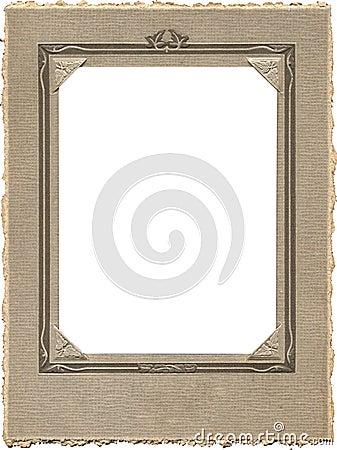 Trame antique de photo