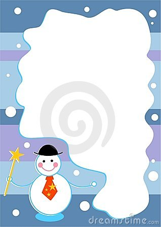 Trame de bonhomme de neige