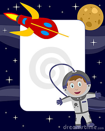 Trame de photo de gosse d astronaute [2]
