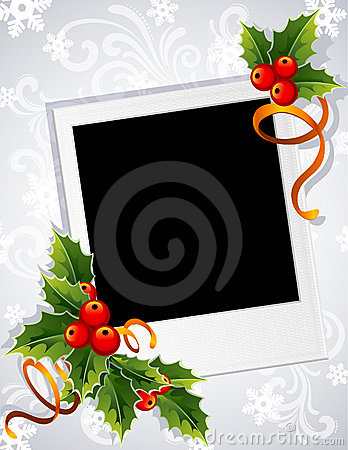 Trame de photo de Noël