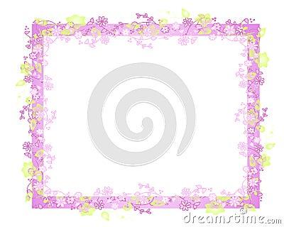 Trame ou cadre de vigne de fleur de source
