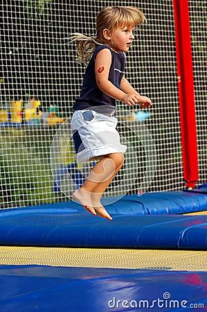 At trampoline