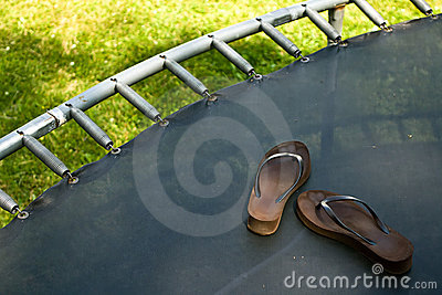 Trampoline with Flipflops