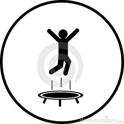 Trampoline Jumping Man Symbol Vector Illustration Royalty Free Stock ...