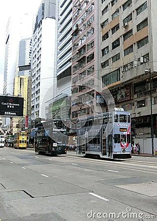 Free Trams In Hong Kong Stock Image - 77072991