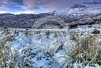 Tramuntana Mountain with snow