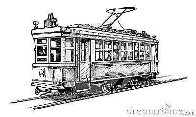 Tramway image stock image 36051701 - Dessin tramway ...