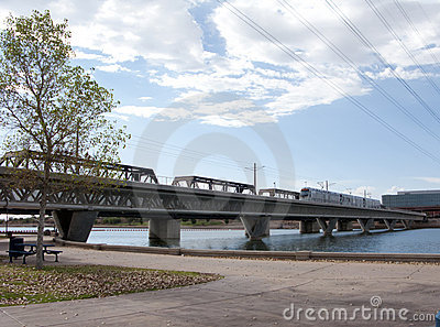 Bridge over Tempe Lake, Phoenix, AZ