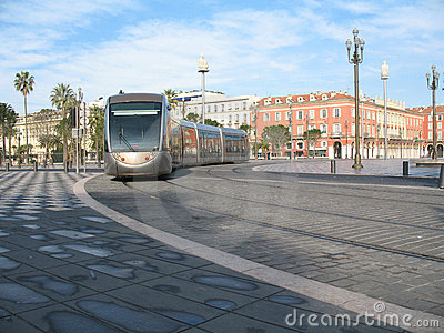 Tramway in city of Nice