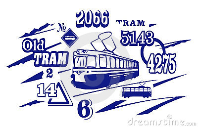 Tramway Illustration. JPG and EPS
