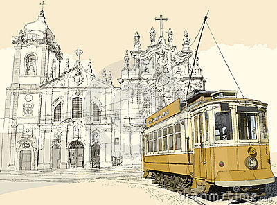 Tramway in Porto