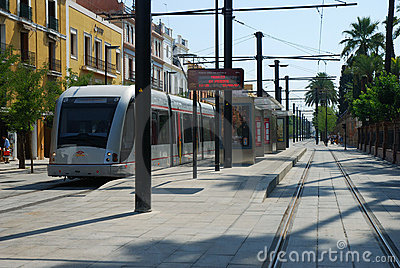 The tramway in Seville Editorial Photography
