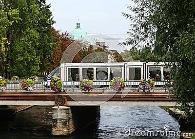 Tramway in Strasbourg, France