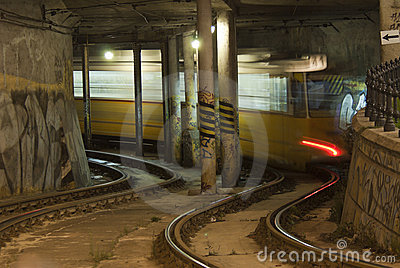 Tramway in the tunnel