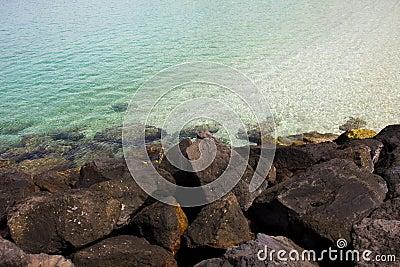 tranparent water