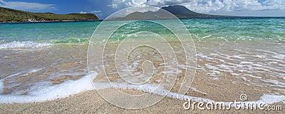 Tranquil beach on Saint Kitts