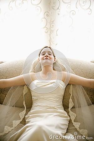 Tranquil bride.