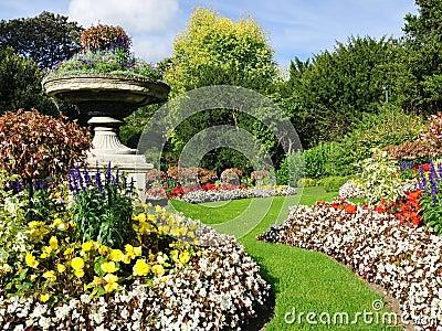 Tranquil Formal Garden Scene
