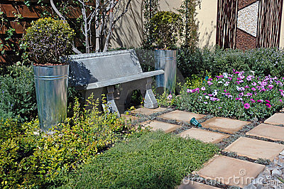 Tranquil Garden Scene.