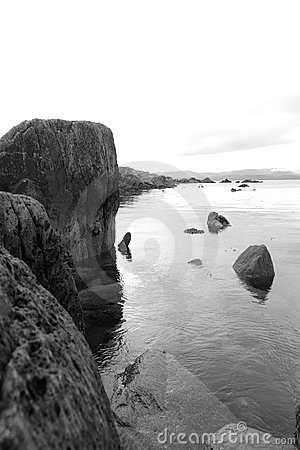 Tranquil kerry black and white view
