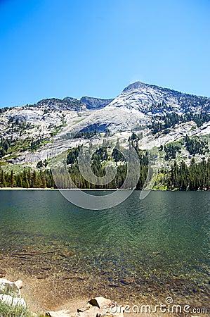 Tranquil lake in Yosemite