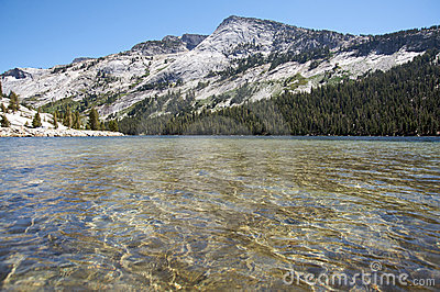 Tranquil lake in Yosemite