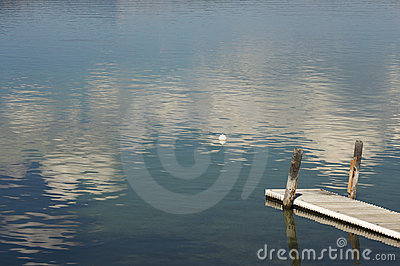 Tranquil Morning Lake Scene