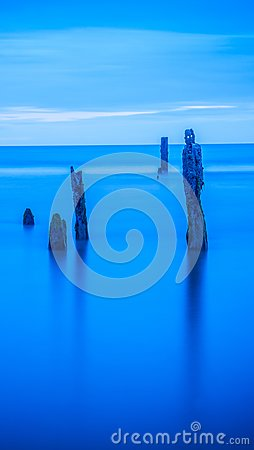 Free Tranquil Ocean Water Seascape Blue Wallpaper Royalty Free Stock Images - 104057959