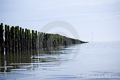Tranquil sea perspective